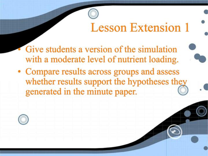 Lesson Extension 1