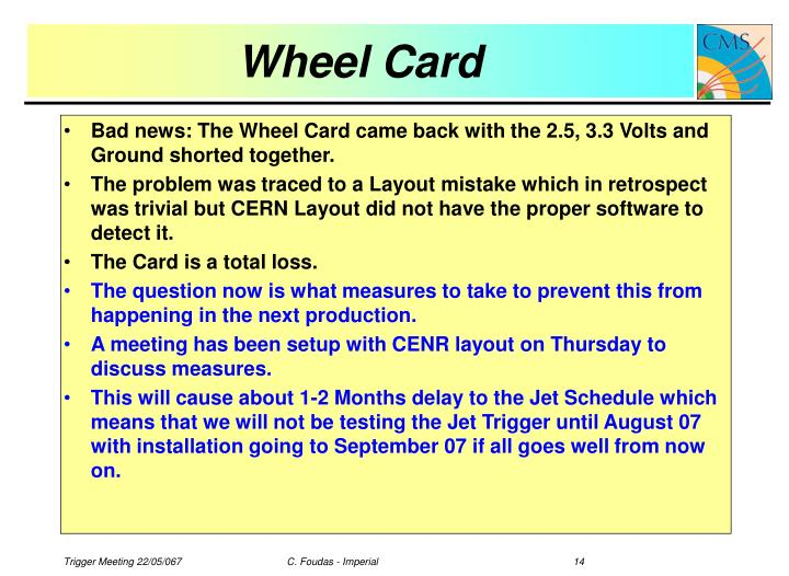 Wheel Card