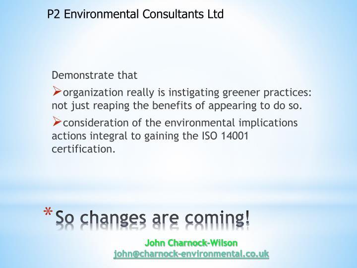 P2 Environmental Consultants Ltd