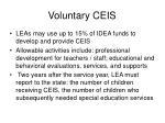 voluntary ceis