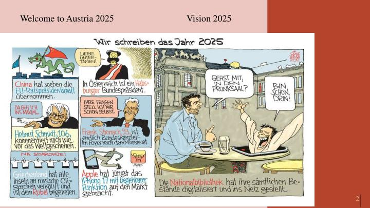 Welcome to Austria 2025 			Vision 2025