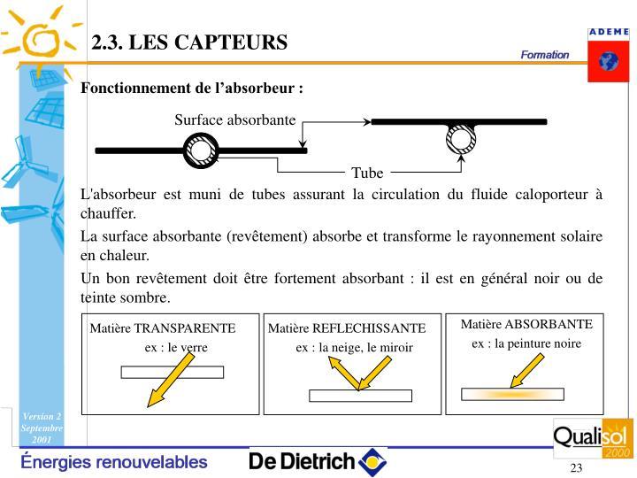 2.3. LES CAPTEURS