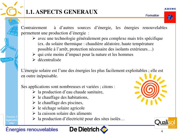 1.1. ASPECTS GENERAUX