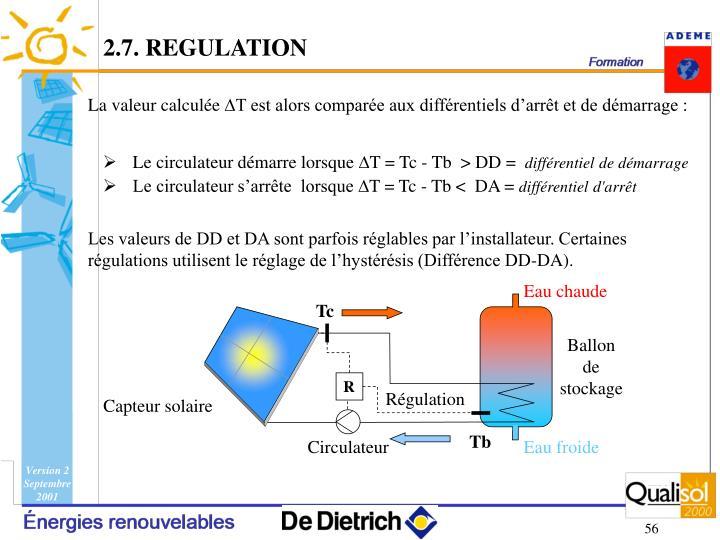 2.7. REGULATION