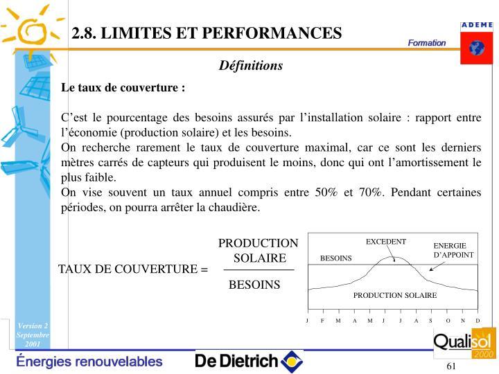 2.8. LIMITES ET PERFORMANCES