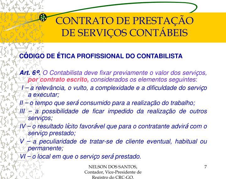 CONTRATO DE PRESTAÇÃO