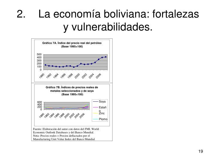 2.La economía boliviana: fortalezas y vulnerabilidades.