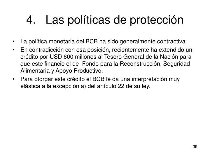Las políticas de protección