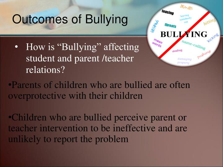 "How is ""Bullying"" affecting student and parent /teacher relations?"