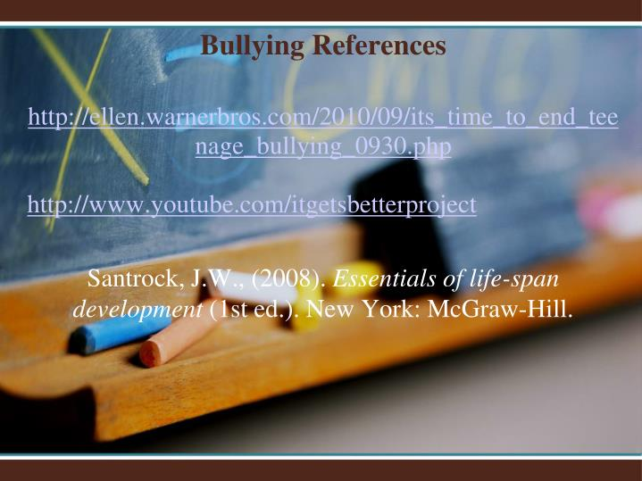 Bullying References