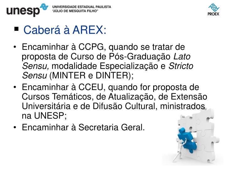 Encaminhar à CCPG, quando se tratar de proposta de Curso de Pós-Graduação