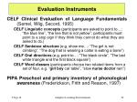 evaluation instruments