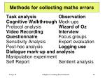 methods for collecting maths errors