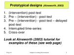 prototypical designs ainsworth 2003