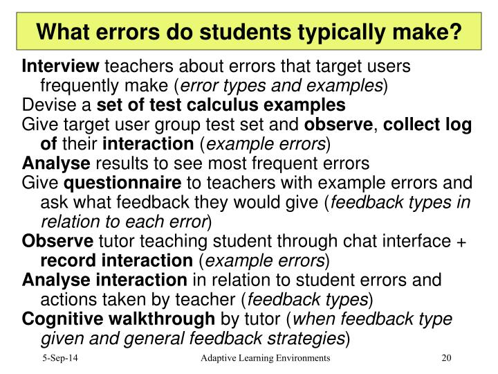 What errors do students typically make?
