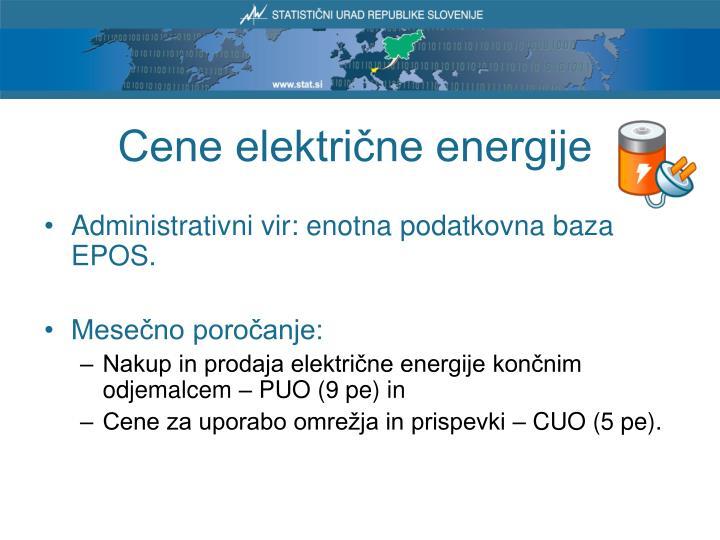 Cene električne energije