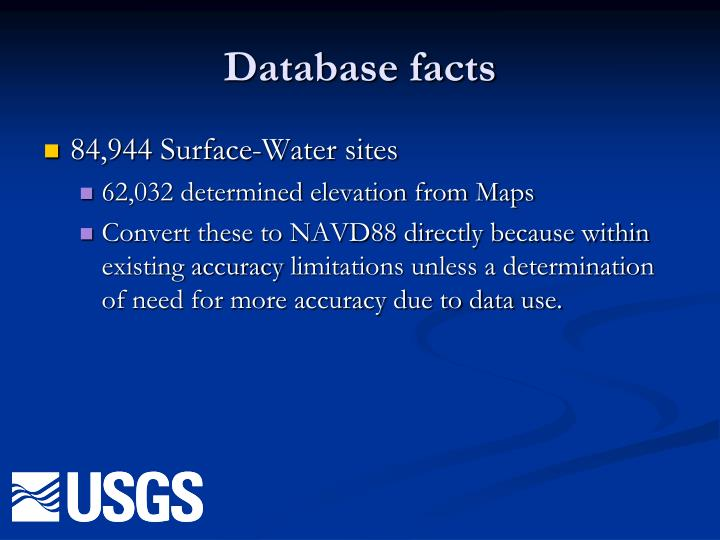 Database facts