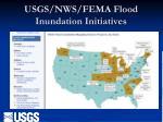 usgs nws fema flood inundation initiatives