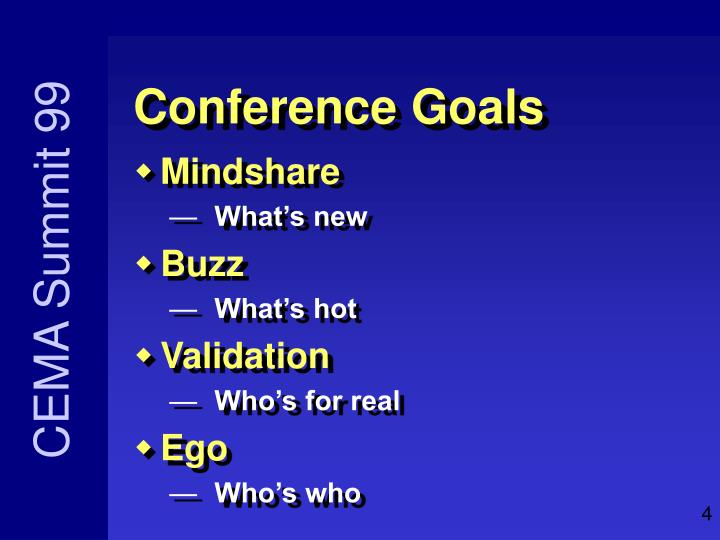 Conference Goals