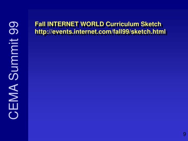 Fall INTERNET WORLD Curriculum Sketch
