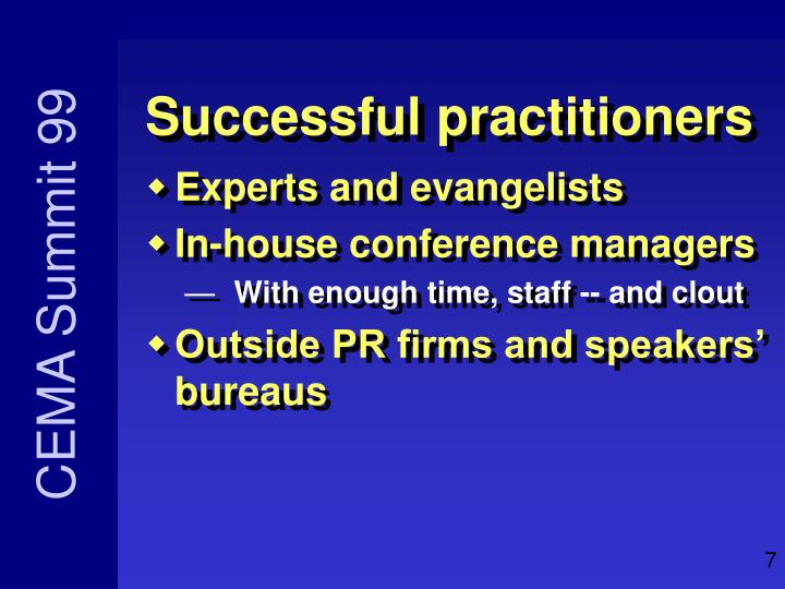 Successful practitioners