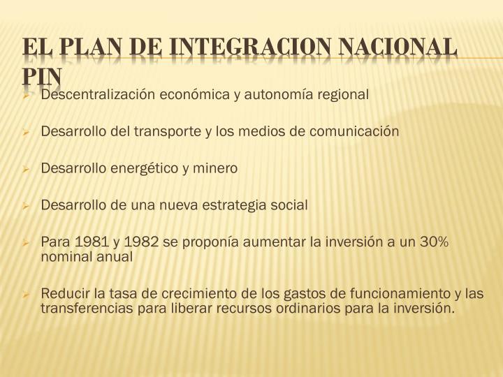 Descentralización económica y autonomía regional