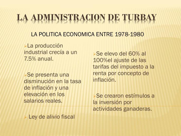 LA POLITICA ECONOMICA ENTRE 1978-1980
