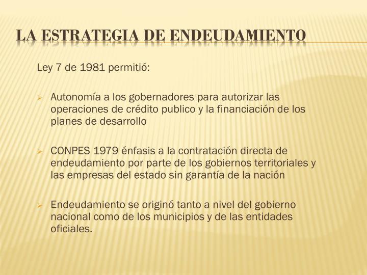 Ley 7 de 1981 permitió: