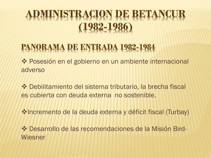 ADMINISTRACION DE BETANCUR