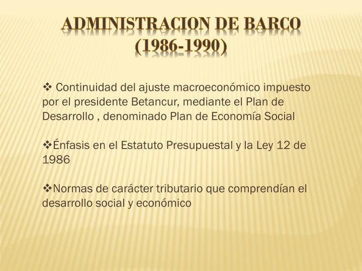 ADMINISTRACION DE BARCO