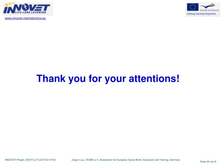 Thank you for your attentions!