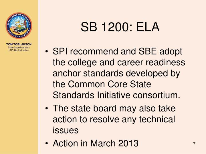 SB 1200: ELA