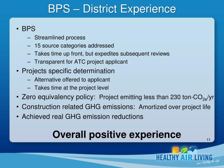BPS – District Experience
