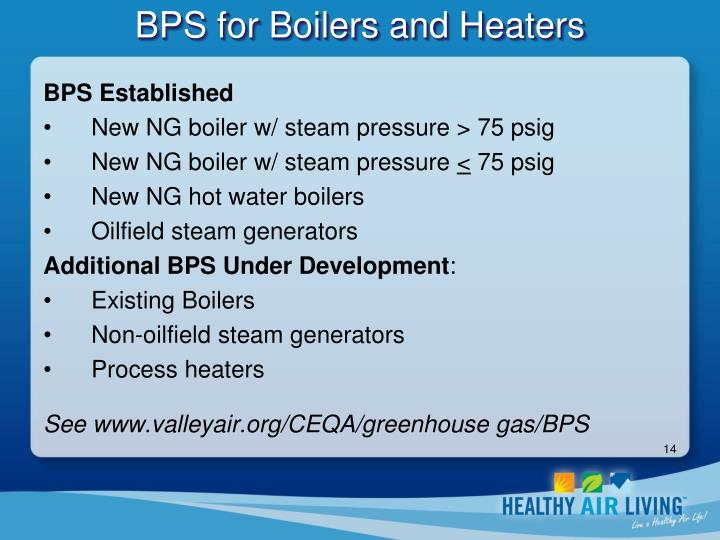 BPS for Boilers and Heaters