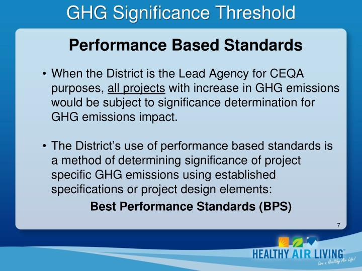 GHG Significance Threshold