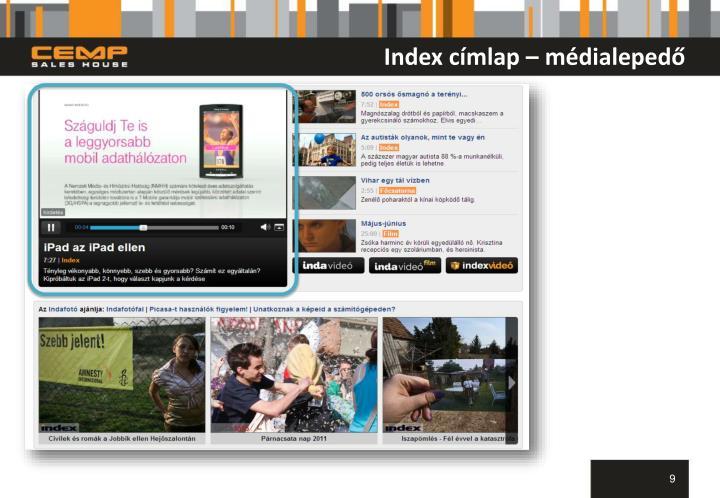 Index címlap – médialepedő