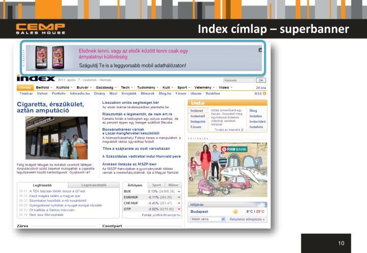 Index címlap – superbanner