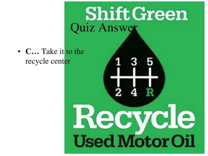 Quiz Answer