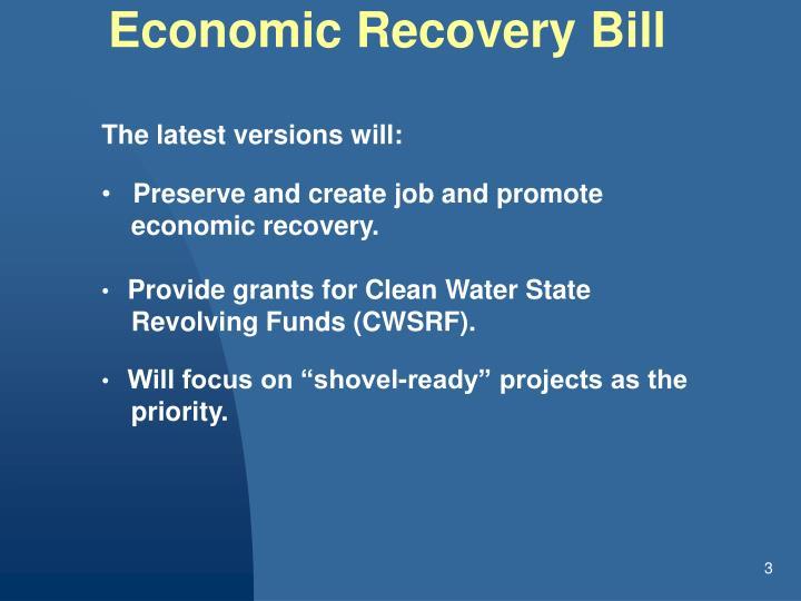 Economic Recovery Bill