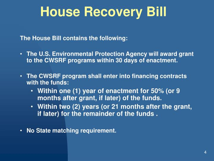House Recovery Bill