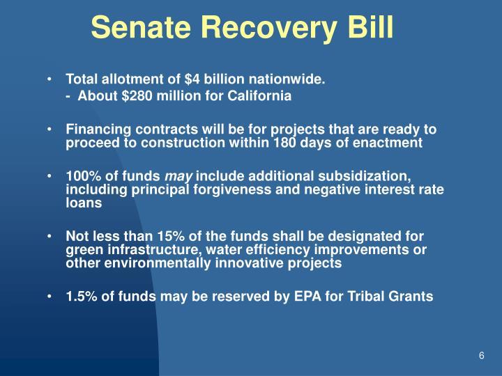 Senate Recovery Bill
