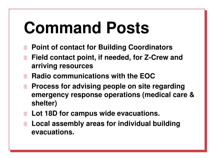 Command Posts