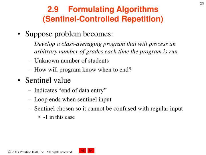 2.9Formulating Algorithms