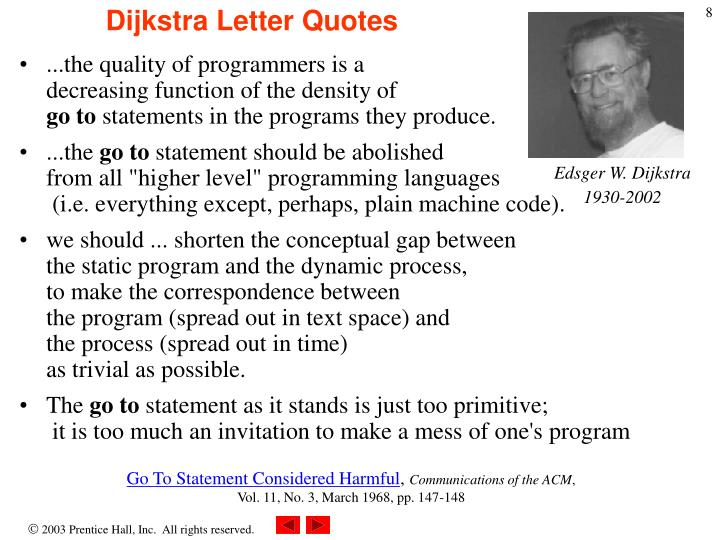 Dijkstra Letter Quotes