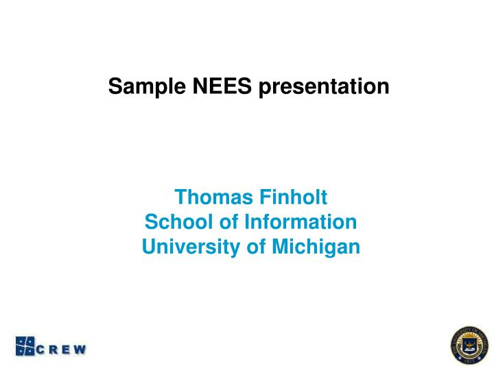 Sample nees presentation