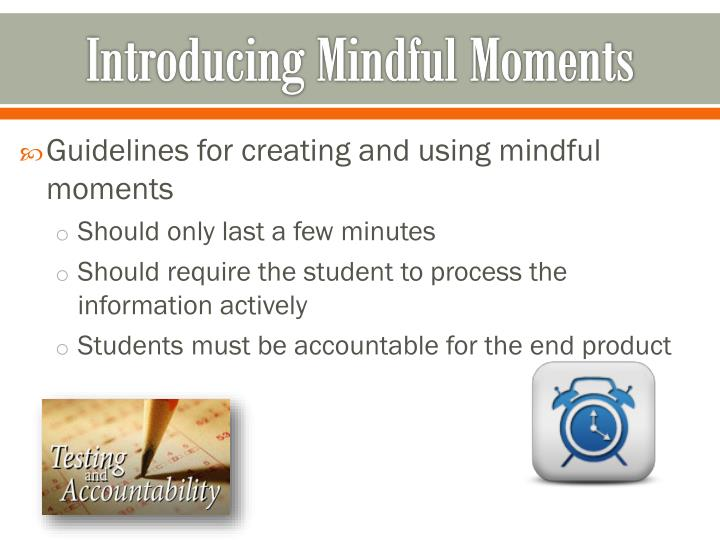 Introducing Mindful Moments