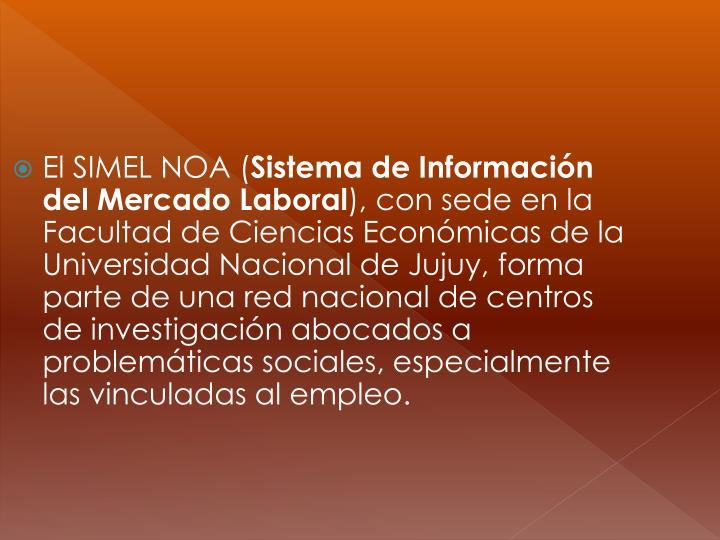El SIMEL NOA (