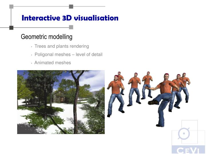 Interactive 3D visualisation