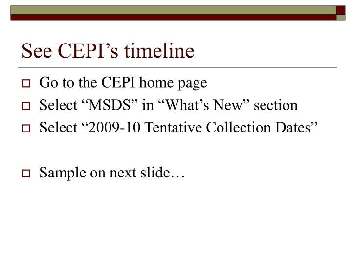 See CEPI's timeline