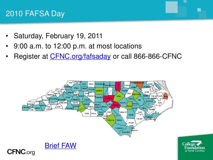 2010 FAFSA Day
